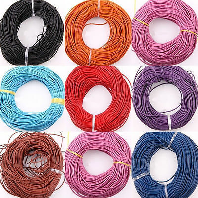 Lot 3/10/100M PU Leather Rope String Cord Necklace String 1.5mm Jewelry Making