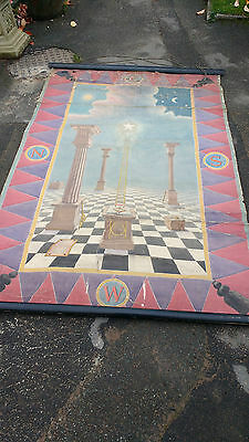 Antique Masonic First Degree Tracing Board