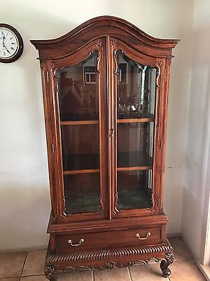Antique Reproduction Mahogany Display Cabinet