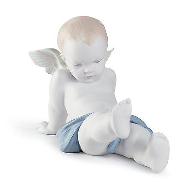 Lladro Angel Nude Wings 01011921  Sitting On The Clouds Angel11921 New In A Box
