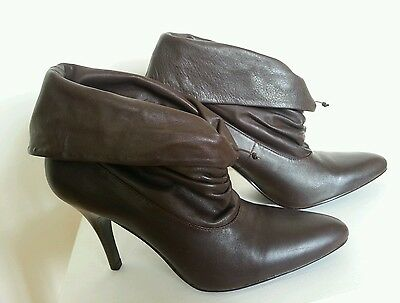 Leather Ankle Boots Size 39 Brand New
