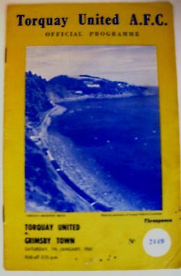 Torquay United v Grimsby Town 1960/61 Div. 3 programme.