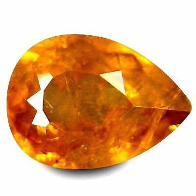 1.590Cts Gorgeous Amazing Yellow Natural Sphene Pear Loose Gemstones