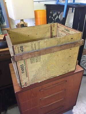 vintage bus stop time boards made into a box! retro