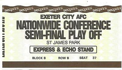 Ticket Stub - Exeter City v Oxford Utd - Conference Play-Off Semi-Final - 2007