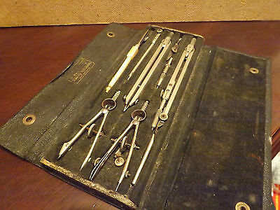 A Vintage Malden Drawing Instruments Set..with Wear...