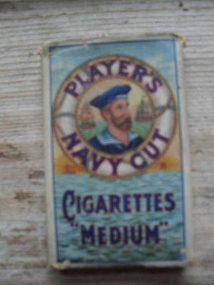 vintage players 'Navy Cut' cigarette packet