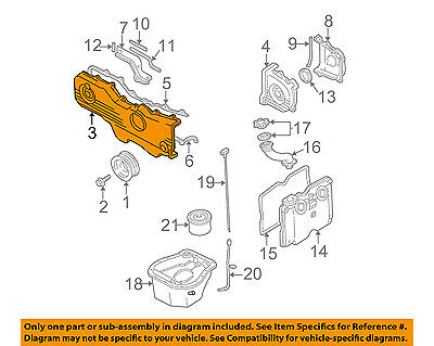 SUBARU OEM 10-12 Legacy Engine Parts-Outer Timing Cvr Right 13570AA17A