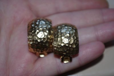 Vintage Christian Dior Gold Clip On Earrings
