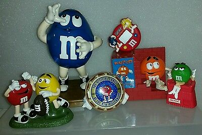 Lot Of 6 M&m's Collectible Candy Dispensers - Vintage -Some Rare
