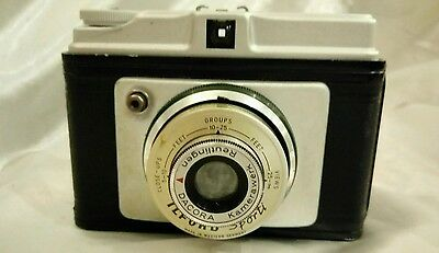 Vintage Ilford SportI 120 Roll Film Camera with Case and Film Liaded Inside