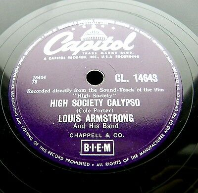 0657/ LOUIS ARMSTRONG-BING CROSBY-High society-Now you has JAZZ-KLASSE Schellack