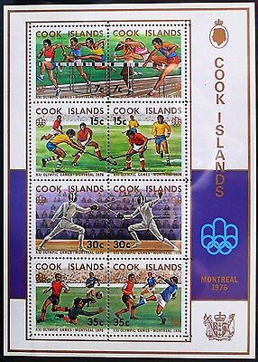 COOK ISLANDS 1976 MINIATURE SHEET - Olympic Games MS561 MNH
