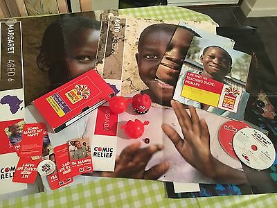 Small Set Of Collectable Comic Relief Posters 3 Red Noses And Memorabilia RND