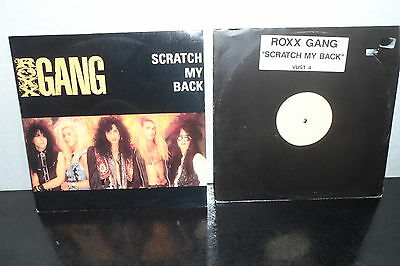 "Roxx Gang Scratch My Back Uk 12"" Picture Sleeve + Uk 12"" White Label Test Pressi"