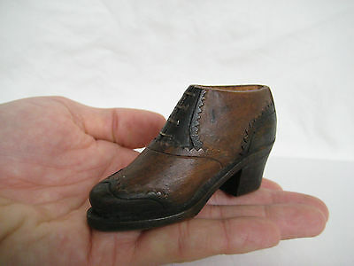 Old 1930's Wooden Model of a Lady's Shoe