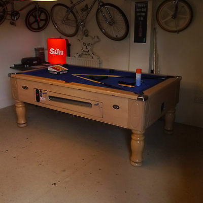 DPT Ascot Pool Table,Pub Type,7x4 New Cloth! Cues,Balls,stunning,coin mech,free