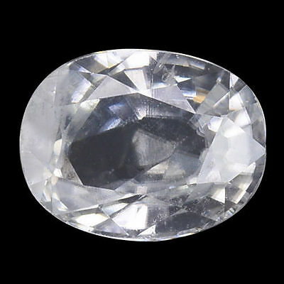 2.945Cts Outstanding Beautiful White Natural Zircon Oval Loose Gemstones