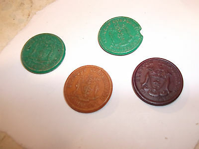 Lot Of Glasgow Corporation Tramways Tokens X 4