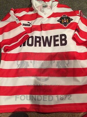 Retro Wigan Rugby Shirt Size m