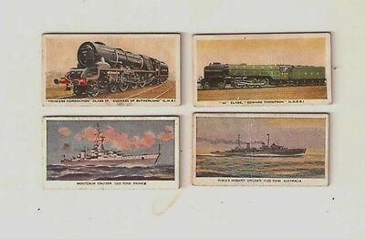 4 British Automatic Co. Weight cards 1950's - Locomotives & Ships