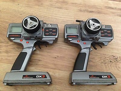 2 x Spektrum DX3 Modified With Lipo One For Spares And Repairs