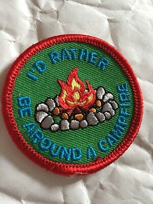 New Scout Guide Fun Camp Blanket Badge Rather Campfire