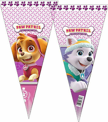 6 Pink Paw Patrol Birthday Party Plastic Sweet Cone Bags Free P+P