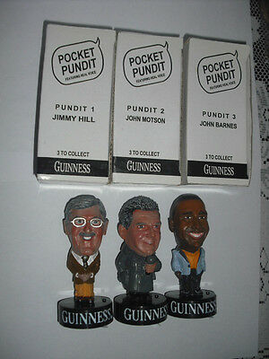 Complete Set 2003 Guinness Football Pundits In Original Boxes Never Used Mint