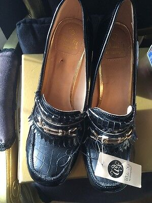 NWT Black Court Shoes Wide Fit Size 7