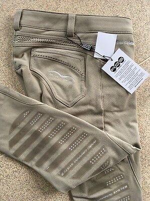 Animo Breeches i38 Uk6  Beige/cream with gripping brand new
