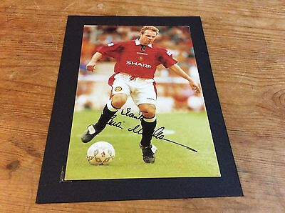"""Brian Mclair Manchester United Signed And Mounted 6"""" x 4"""""""