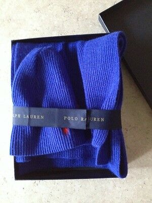Ralph Lauren Royal Blue Hat and Scarf Set, Ladies or Mens