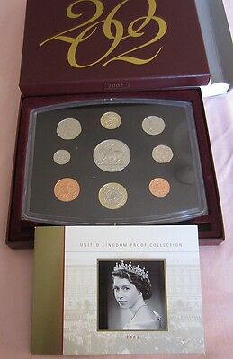 UK Royal Mint Proof set for the year 2002 mirror finish to coins