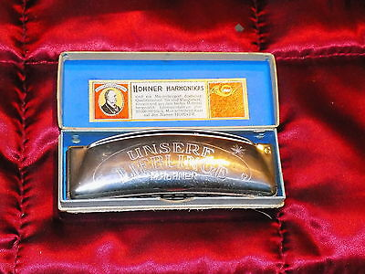 Vintage Hohner Harmonica Made In Germany with original box