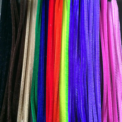67 Assorted Chenille Stems Pipe Cleaners Craft Activity 30 cm Coated Wire Pack