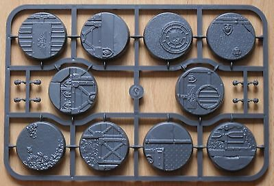 WARHAMMER 40K GAMES WORKSHOP - SECTOR IMPERIALIS 40mm ROUND BASES x 10 - NEW