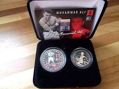 MUHAMMAD ALI 24K Gold U.S. Legal Tender 2-Coin Set *Officially Licensed*