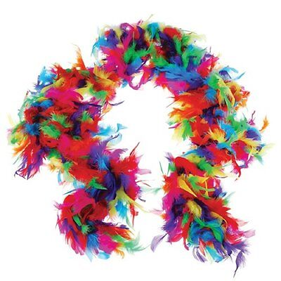 US Toy One Rainbow Feather Boa Costume, 6 x 60gm, Multicolor