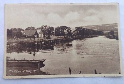 Dingwall, Ross shire postcard of Old Canal