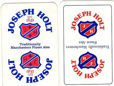 """2 Different """"Holts (Manchester) British Brewery"""" SINGLE Playing Cards"""