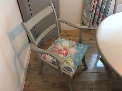 hand painted grey dining room table and chairs