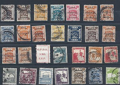 Palestine: Small Collection Of E.e.f Overprints & Other Issues (Used) + O.p.d.a