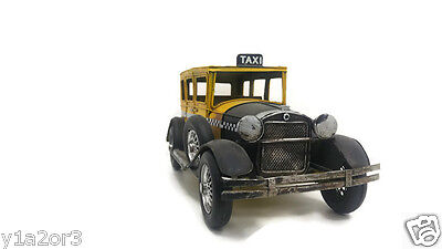 vintage NYC taxi yellow cab car model hand made