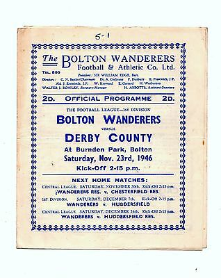 1946-1947 Bolton Wanderers v Derby County