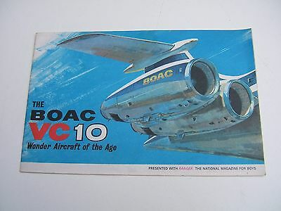 Rare Boac Vc10 Wonder Aircraft Of The Age Booklet By Ranger 1965