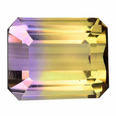 2.600 Cts Mind Blowing Amazing Purple&yellow Natural Bi-Color Ametrine Octagon
