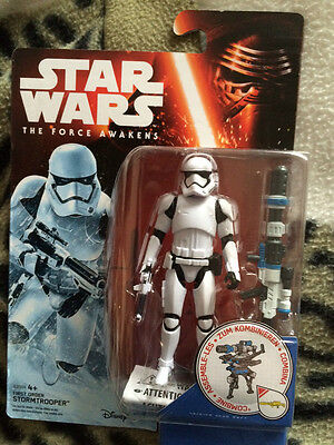 Star wars the force awakens  3.75 inch  first order  stormtrooper figure