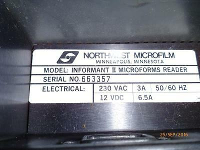 Northwest microfilms Portable Microform reader Informant II