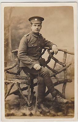 Rp Ww1 Rasc Soldier Of Royal Army Service Corps Real Photo  C 1916